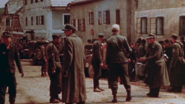 german prisoners of war fighting fire at burning church with buckets and hose / austria - austria stock videos & royalty-free footage