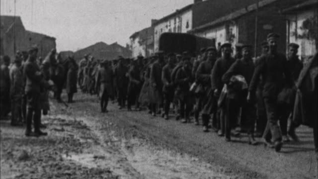 german prisoners of war walking on road / france - german military stock videos & royalty-free footage
