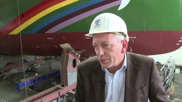 german shipyard is finalizing the rainbow warrior iii, a famous greenpeace ship sunk by the french secret services, which cost 23 million euros to... - greenpeace stock videos & royalty-free footage