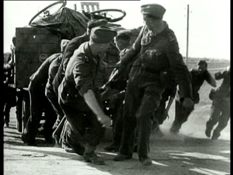 german soldiers begin with the clearing and dismantling of mines when they are finished they leave the netherlands under the supervision of the... - dismantling stock videos and b-roll footage