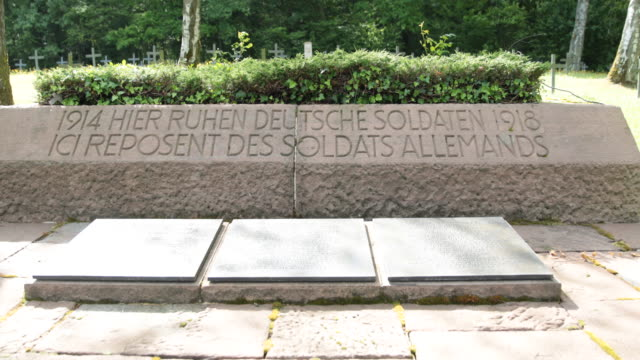 german soldiers' cemetery in france - 1918 stock videos and b-roll footage