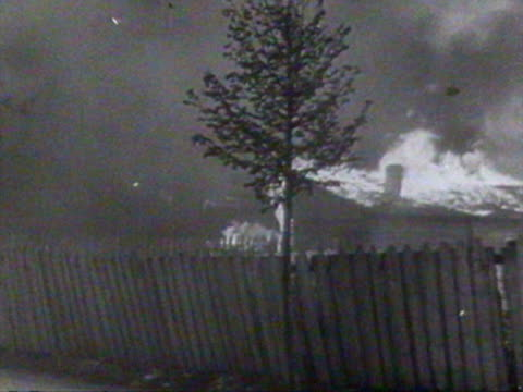 german soldiers invade village on fire audio / russia - 1941 stock videos & royalty-free footage
