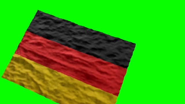 german stadium flag. waving on green screen - german language stock videos & royalty-free footage