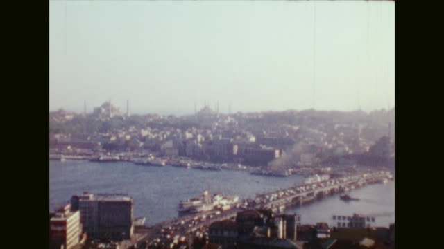 german tourists visiting istanbul in october 1976 / istanbul airport people getting off turkish airlines plane and walking on tarmac row of parked... - july 15 martyrs' bridge stock videos & royalty-free footage