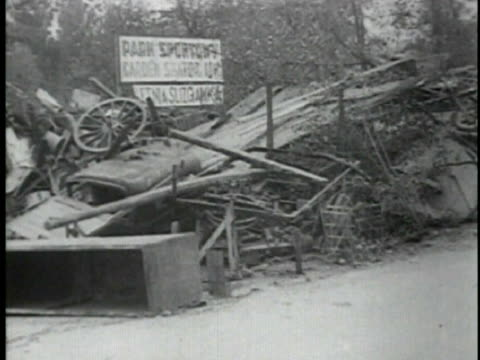 german trooops in warsaw, warsaw destruction - 1939 stock videos & royalty-free footage