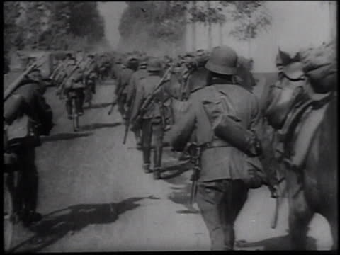 german troops marching in the street / denmark - axis powers stock videos & royalty-free footage