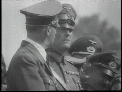 german troops marching through countryside, past hitler - 1939 stock videos & royalty-free footage