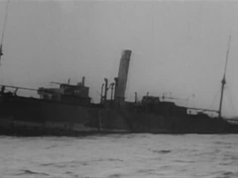 german u 35 submarine sinking ss parkgate - ship stock videos & royalty-free footage
