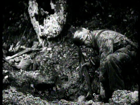 Germans use the Goliath to destroy an American tank from a distance German soldiers find a severely wounded American soldier American prisoners of...