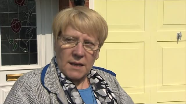 transport / germanwings plane crash in french alps interview margaret goodyear neighbour of victim martyn matthews england wolverhampton ext margaret... - huf stock videos and b-roll footage