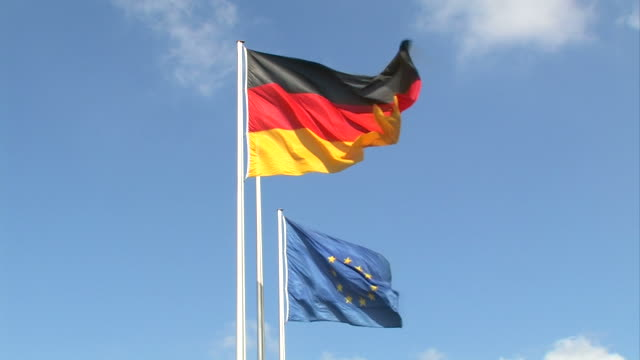 germany and europe - flags - german flag stock videos & royalty-free footage