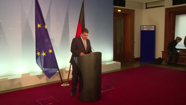 germany and turkey must work towards a better relationship frayed by a series of disputes foreign minister sigmar gabriel says - ausgefranst stock-videos und b-roll-filmmaterial