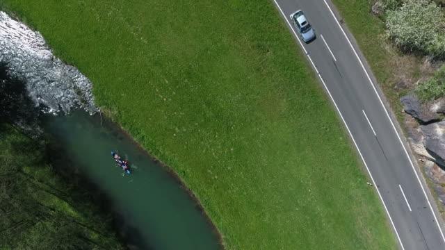 germany, bavaria, altmuehltal, altmuhl river, kayak, country road - ländliche straße stock-videos und b-roll-filmmaterial