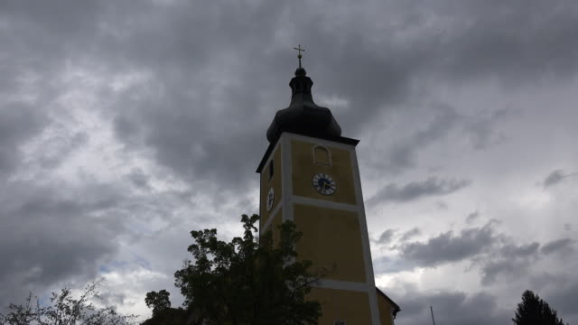 Germany clouds above church steeple