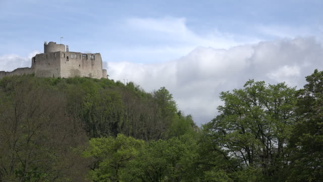germany clouds move above the ruins of kallmunz castle - kallmünz stock videos & royalty-free footage