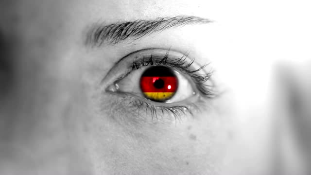 germany eye. hd - german flag stock videos & royalty-free footage