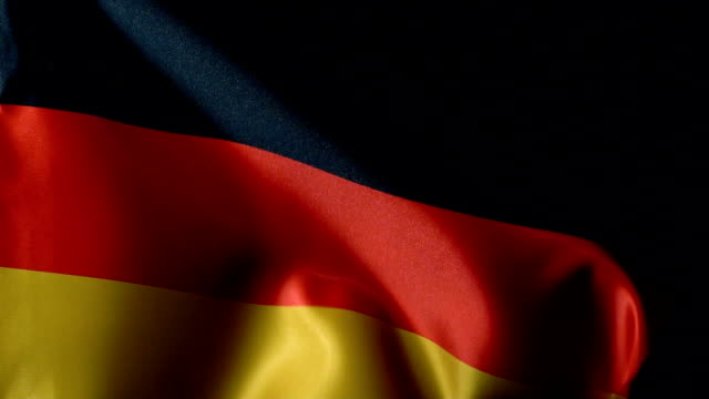 germany flag flapping - german culture stock videos & royalty-free footage
