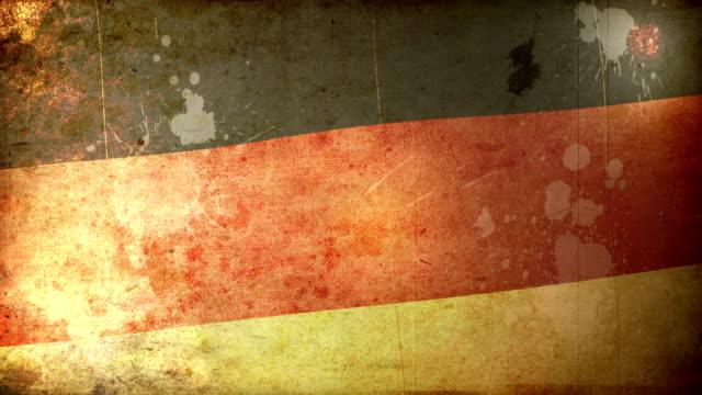 vídeos de stock, filmes e b-roll de bandeira de grunge alemanha.  em hd - patriotismo