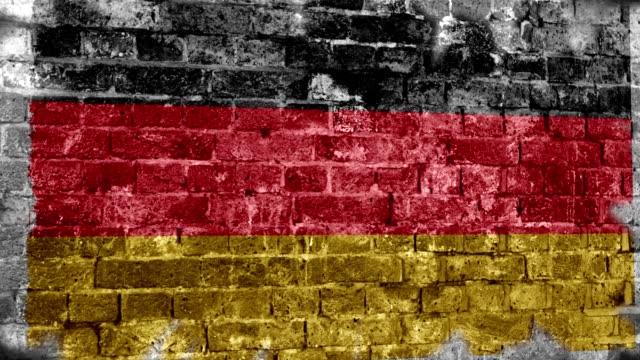 Germany Flag Grunge Wall. 4k