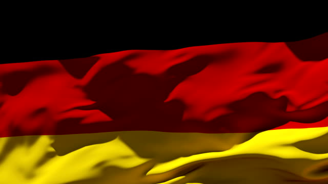 germany flag | loopable - flag blowing in the wind stock videos & royalty-free footage