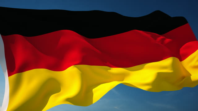4k germany flag - loopable - german flag stock videos & royalty-free footage