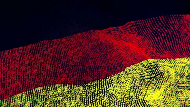 Germany Flag Particle Digital Flag Loopable 4K