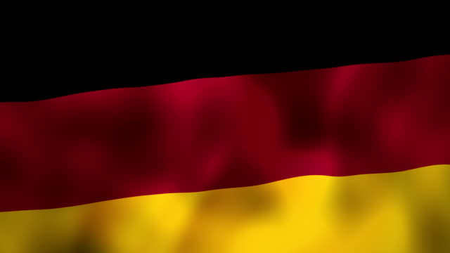 germany flag waving in the wind - german flag stock videos & royalty-free footage