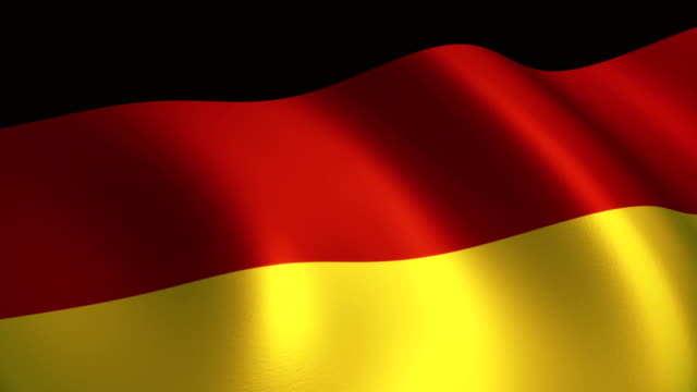 germany flag waving loopable - german flag stock videos & royalty-free footage