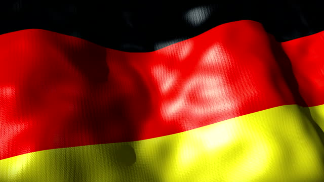 germany flag waving, looping - german culture stock videos and b-roll footage