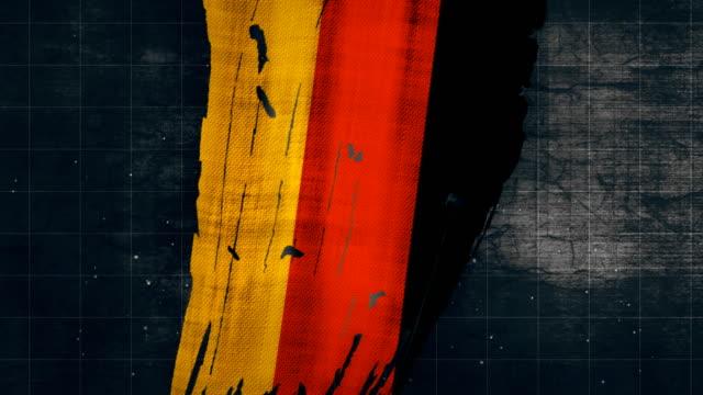4k germany grunge flag - german flag stock videos & royalty-free footage