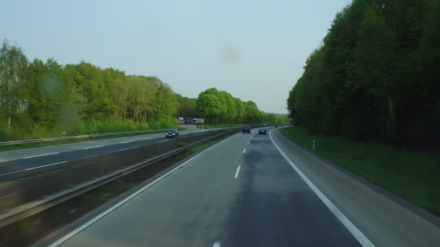 germany highway 61 pov shot - multiple lane highway stock videos & royalty-free footage