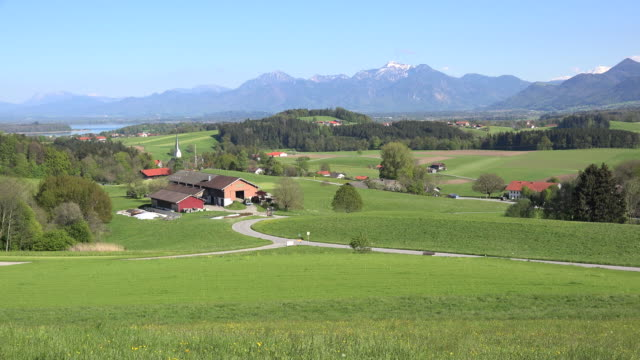 stockvideo's en b-roll-footage met germany looking across a landscape - bavarian alps