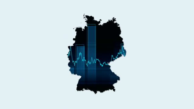 4k germany map and financial-economy background - solid stock videos & royalty-free footage
