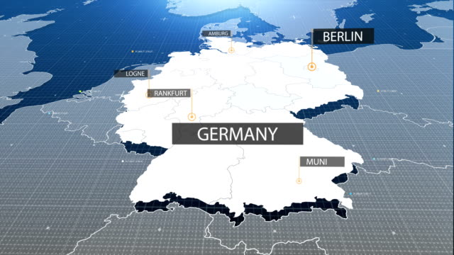 germany map with label then with out label - germany stock videos & royalty-free footage