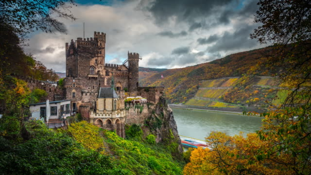 germany, medieval castle - castle stock videos & royalty-free footage
