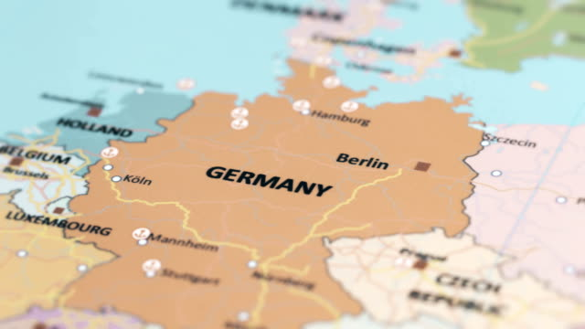 europe germany on world map - map stock videos & royalty-free footage