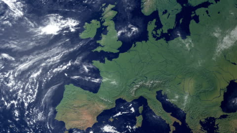 vídeos y material grabado en eventos de stock de alemania aparece después de earth zoom (y alfa mate) - europa continente