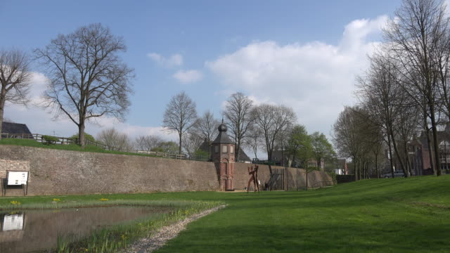 Germany Rees cloud and historic wall