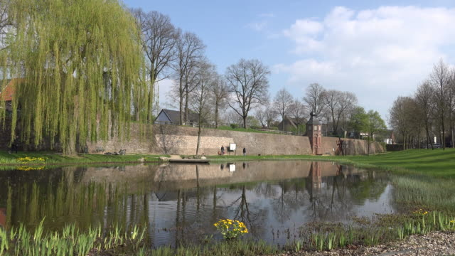 Germany Rees medieval wall and pond.mov