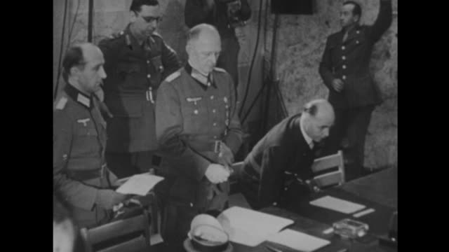 germany surrenders paper signing - surrendering stock videos & royalty-free footage