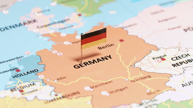 germany with national flag - germany stock videos & royalty-free footage