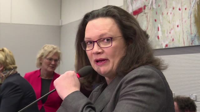 Germany's chaoswracked Social Democrats have named Andrea Nahles as their designated next leader meaning women will soon be in the driver's seats of...