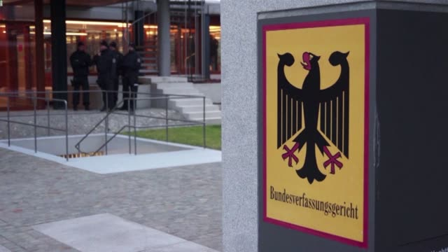 germany's highest court throws out a bid to ban the far right npd party arguing that the xenophobic fringe outfit is too insignificant to spell a... - court stock videos & royalty-free footage