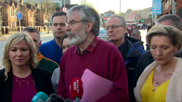 gerry adams saying the unionist majority in the assembly has been ended and the notion of a permanent or perpetual unionist majority has been... - perpetual motion stock videos & royalty-free footage