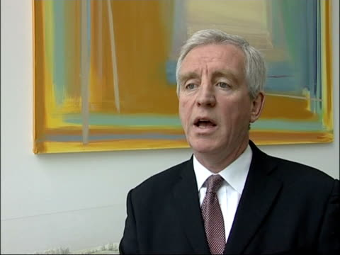 gerry lynch interviewed sot - redundancy costs and costs of managing these changes - no savings in the next 4 or 5 years i/c with videowall tx - financial accessory stock videos & royalty-free footage