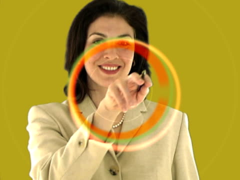 gesturing businesswoman - digital enhancement stock videos and b-roll footage