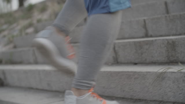 4k: get fit in the city. - steps and staircases stock videos & royalty-free footage