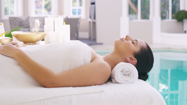 get healthy and relax - massage table stock videos & royalty-free footage