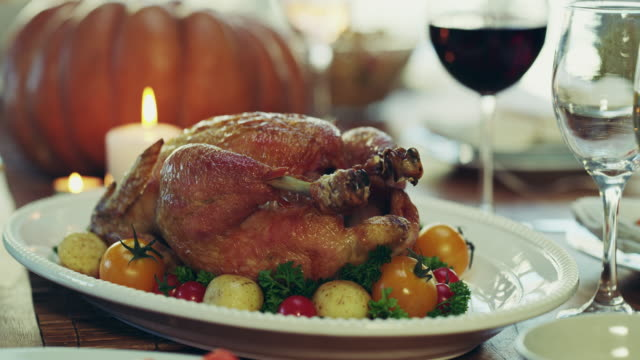 get ready to dig in - thanksgiving plate stock videos & royalty-free footage