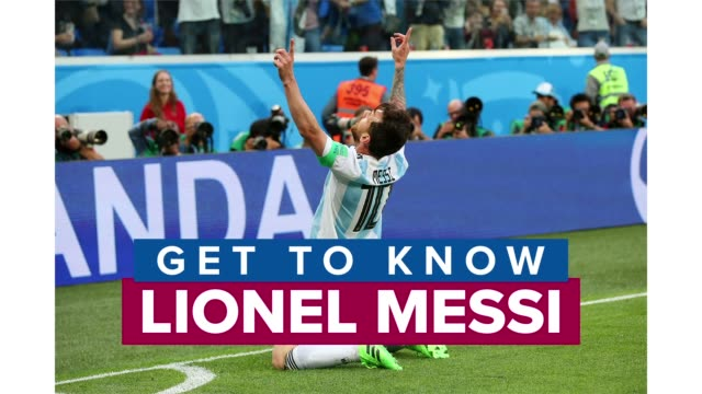 vidéos et rushes de get to know lionel messi one of the best soccer players in the world and a forward for spanish club barcelona and the argentina national team - argentine